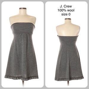 J. Crew strapless wool casual dress SZ 0